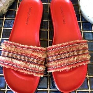 Donald Pliner Red Platform Sandals